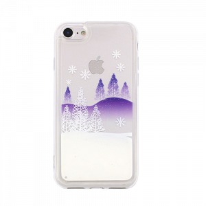 Θήκη Liquid Glitter Winter Snow 2 για Apple iPhone 7 & iPhone 8