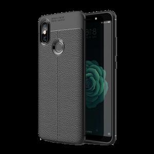 Θήκη Litchi Pattern για Xiaomi Mi A2 - Μαύρο