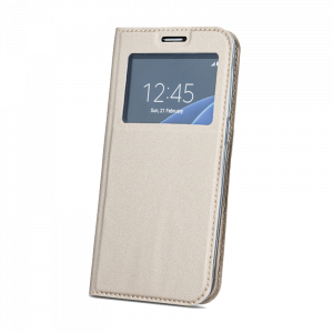 Θήκη Flip με Πορτάκι Smart Look για Xiaomi Redmi 6 - Χρυσό