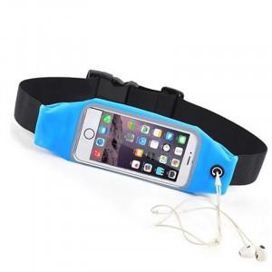 """Sports Waist Case with Window για Smartphones 6.2"""" - Θήκη Μέσης με παράθυρο για Smartphones - Μπλε"""