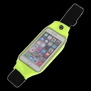 "Sports Waist Case with Window για Smartphones 6.2"" - Θήκη Μέσης με παράθυρο για Smartphones - Κίτρινο"