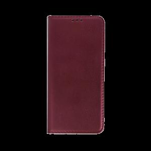 Θήκη Flip με Πορτάκι Smart Magnetic για Xiaomi Mi Note 10 - Burgundy