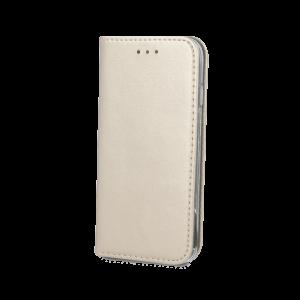 Θήκη Flip με Πορτάκι Smart Magnetic για Huawei P20 Lite - Χρυσό