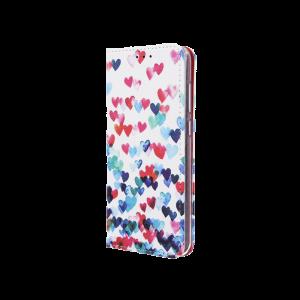 Θήκη Flip με Πορτάκι Smart Trendy Hearts για Samsung Galaxy A9 2018