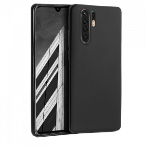Θήκη Σιλικόνης Back Cover Soft Matt για Huawei P30 Pro - Μαύρο