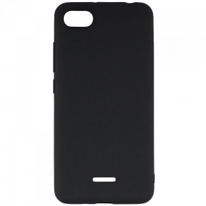 Θήκη Σιλικόνης Back Cover Soft Matt για Xiaomi Redmi 6A - Μαύρο