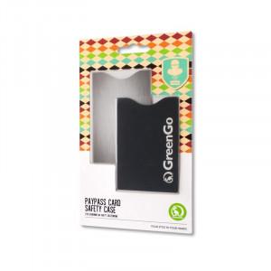 Θήκες Προστασίας Ασύρματης Ανάγνωσης Πιστωτικών Καρτών GreenGo - Ασημί και Μαύρο