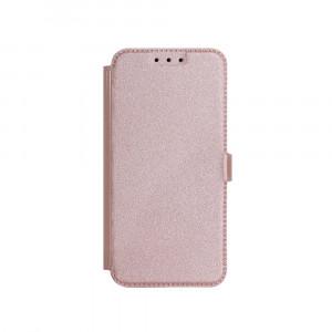 Θήκη Flip με Πορτάκι Smart Pocket για Samsung A6 Plus 2018 - Ροζ Χρυσό