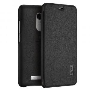 Θήκη Flip με πορτάκι Lenuo για Xiaomi Redmi Note 3 PRO Special Edition International (152mm) - Μαύρο