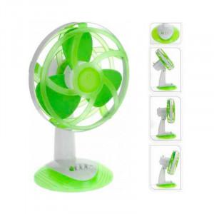 Ανεμιστήρας Επιτραπέζιος με Λεπίδες από Καουτσούκ EVA Oh My Home 45W - Πράσινο / Άσπρο
