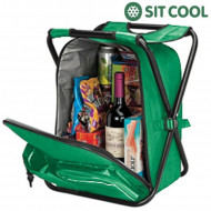 Πτυσσόμενη Καρέκλα 3 σε 1 Ισοθερμική Τσάντα Σακίδιο Πλάτης Sit Cool - Πράσινο
