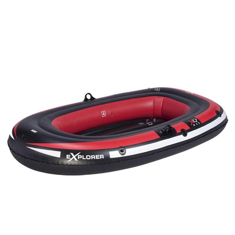 Φουσκωτή Βάρκα Ατομική - Μαύρο / Κόκκινο / Άσπρο