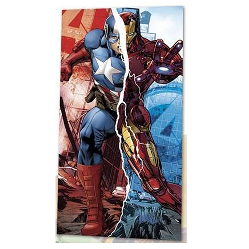 Πετσέτα Θαλάσσης για Παιδιά Kids Licensing Marvel Avengers Captain America Iron Man - 140 x 70 cm