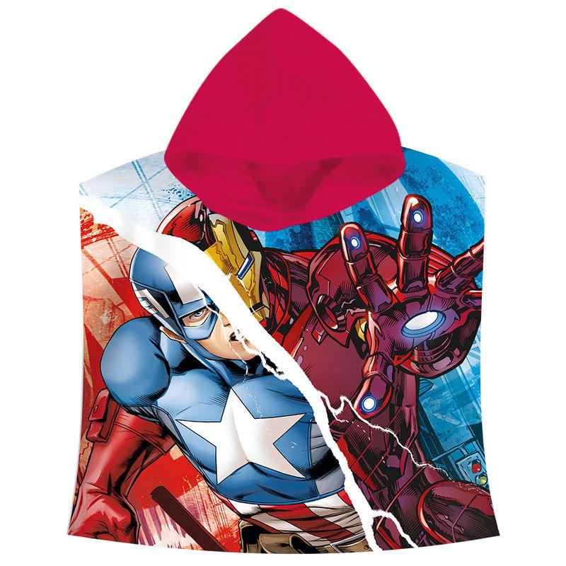 Πετσέτα Θαλάσσης Πόντσο με Κουκούλα για Παιδιά Kids Licensing Marvel Avengers Captain America & Iron Man - 120 x 60 cm