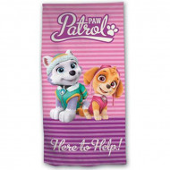Πετσέτα Θαλάσσης για Παιδιά Paw Patrol Everest και Skye