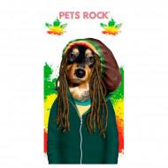 Πετσέτα Θαλάσσης Astro Pets Rock Rastafarian Dog - 150 x 75 cm