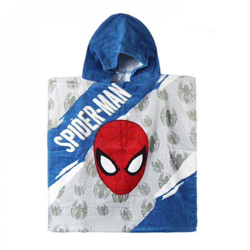 Πετσέτα Θαλάσσης Πόντσο με Κουκούλα για Παιδιά Cerda Marvel Spiderman - 115 x 50 cm