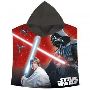 Πετσέτα Θαλάσσης Πόντσο με Κουκούλα για Παιδιά Kids Licensing Star Wars Darth Vader Saga - 120 x 60 cm
