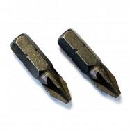 Μύτες για κατσαβίδι PZ2 25mm (2 τεμάχια)
