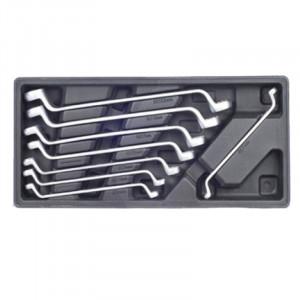 Κλειδιά διπλά πολύγωνα με κλίση 6-22mm σετ 8 τεμάχια Haka Tools