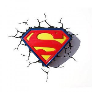Φωτιστικό τοίχου 3D DC Superman