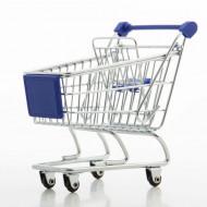 Μίνι Μεταλλικό Καρότσι Super Market - Μπλε