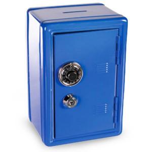Μεταλλικό Χρηματοκιβώτιο - Μπλε