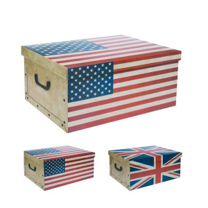 Κουτί αποθήκευσης από χαρτόνι με καπάκι σε σχήμα σημαία Oh My Home