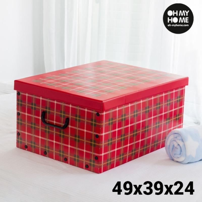 Κουτί αποθήκευσης από χαρτόνι με καπάκι Oh My Home