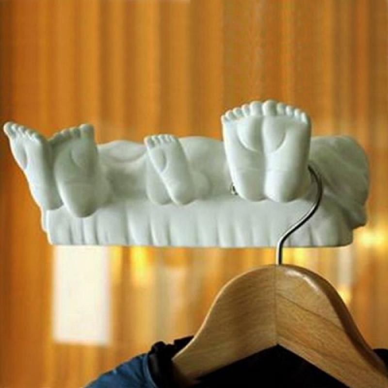 Κρεμάστρα σε Σχήμα Πατούσες Οικογένειας - Μπλέ