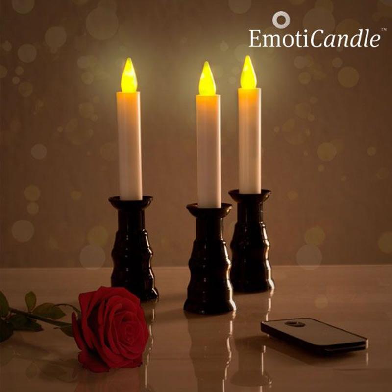 Κεριά LED για Ρομαντική Ατμόσφαιρα EmotiCandle  (Συσκευασία 3)