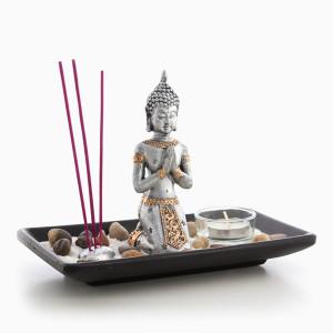 Διακοσμητικό σετ Βούδα με κερί και λιβάνι Oh My Home 9 τεμάχια