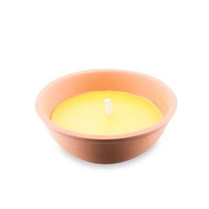 Αντικουνουπικό κερί σιτρονέλας σε πήλινο δοχείο 13cm