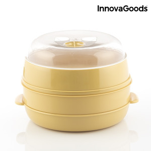 Διπλός ατμομάγειρας InnovaGoods για φούρνο μικροκυμάτων