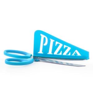 Ψαλίδι με σπάτουλα για Πίτσες - Μπλε