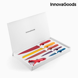 Σετ μαχαιριών και αποφλοιωτή από κεραμικό υλικό InnovaGoods (6 τεμάχια)