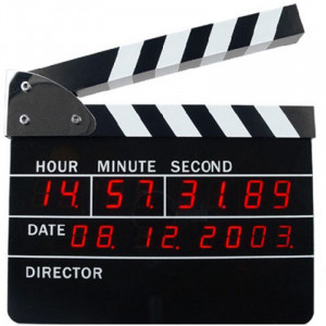 Ρολόι Ξυπνητήρι Ψηφιακό Κλακέτα Σκηνοθέτη - Μαύρο