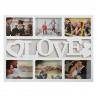 Πλαίσιο Φωτογραφιών Homania με καρδιές Love (6 φωτογραφίες)