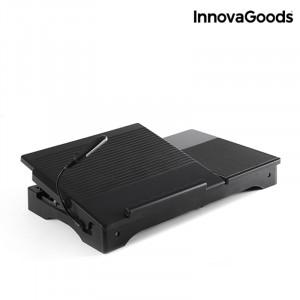Πτυσσόμενο Τραπέζι με LED για Laptop InnovaGoods V0100441 - Γκρι