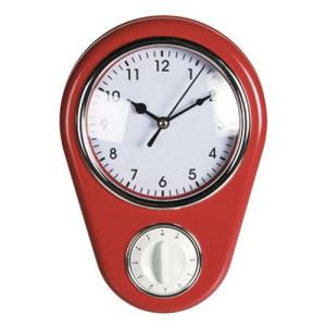 Ρολόι Τοίχου Vintage με χρονοδιακόπτη Coconut Classic - Κόκκινο