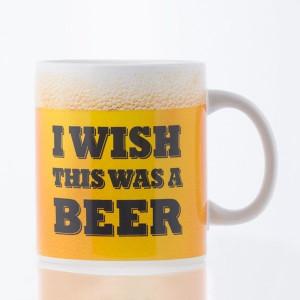 Κούπα XL κεραμική με λογότυπο I Wish This Was a Beer