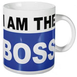 Κούπα XL κεραμική με εκτύπωση I am the Boss