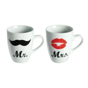 Κούπες Mr & Mrs Romantic Items Σετ 2 τεμάχια