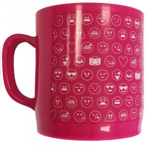 Κούπα Πλαστική Emoticonworld με Λογότυπο Emoji Mosaic - Ροζ