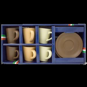 Κούπα Καφέ με Πιατάκι Σετ 12 τεμαχίων HOMie 1001878