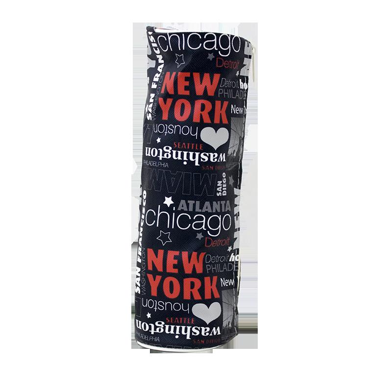 Σχολική Κασετίνα Βαρελάκι JUSTnote NEW YORK 702096 - Μαύρο