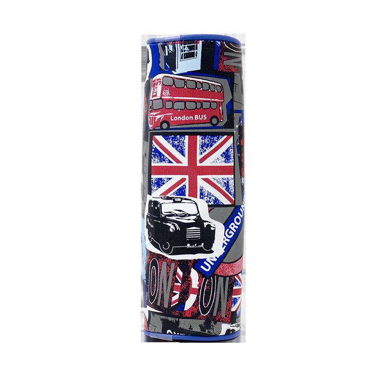 Σχολική Κασετίνα Βαρελάκι JUSTnote LONDON 702088 - Μπλε