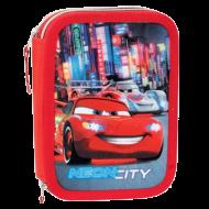 Σχολική Διπλή κασετίνα Perona Disney Cars Neon City
