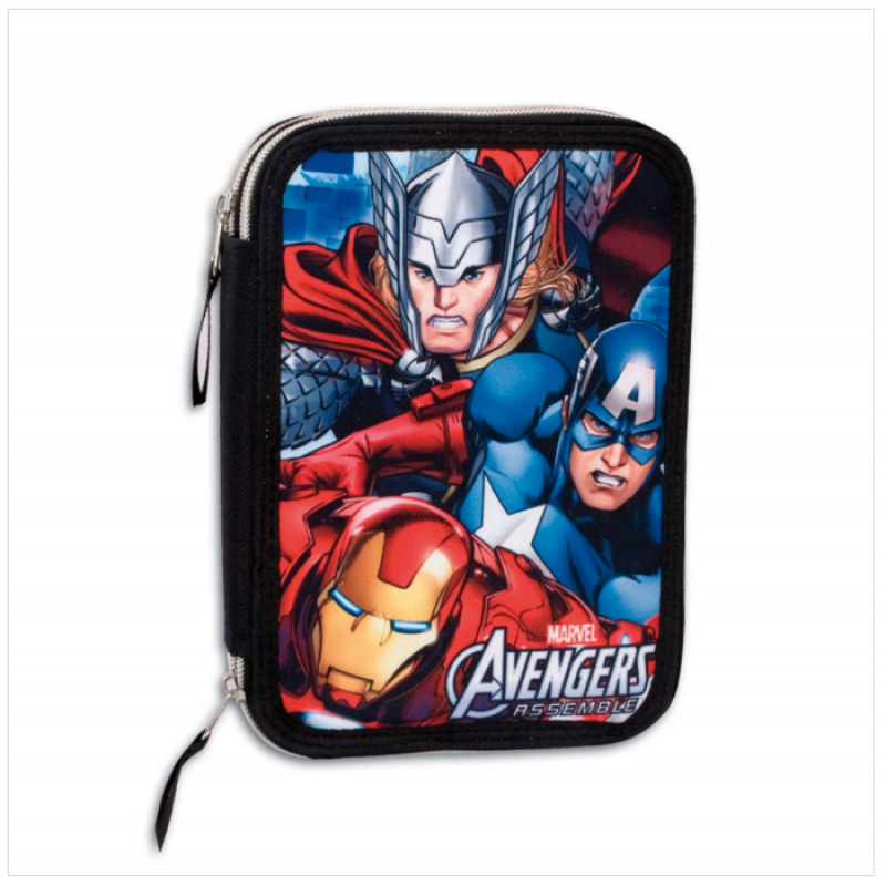 Σχολική Διπλή κασετίνα Perona Marvel Avengers