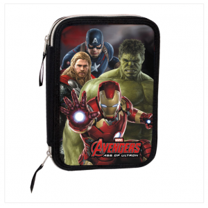 Σχολική Διπλή κασετίνα Perona Marvel Avengers Age of Ultron